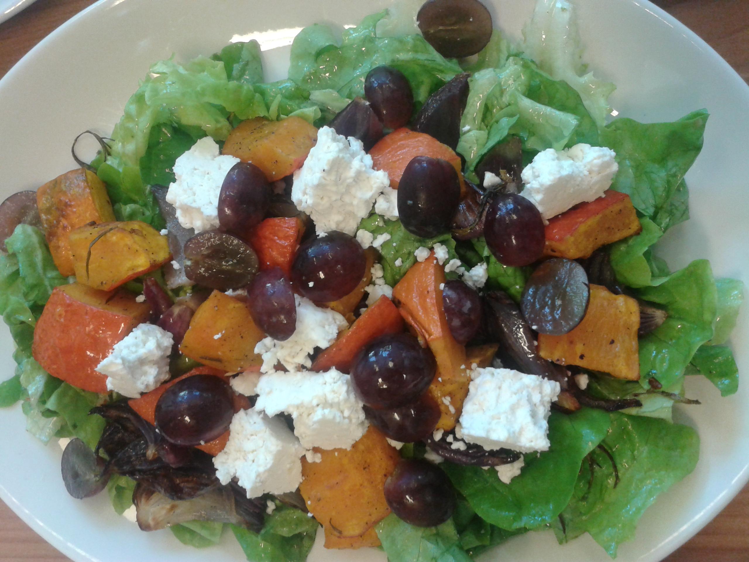 salade met herfstige smaken
