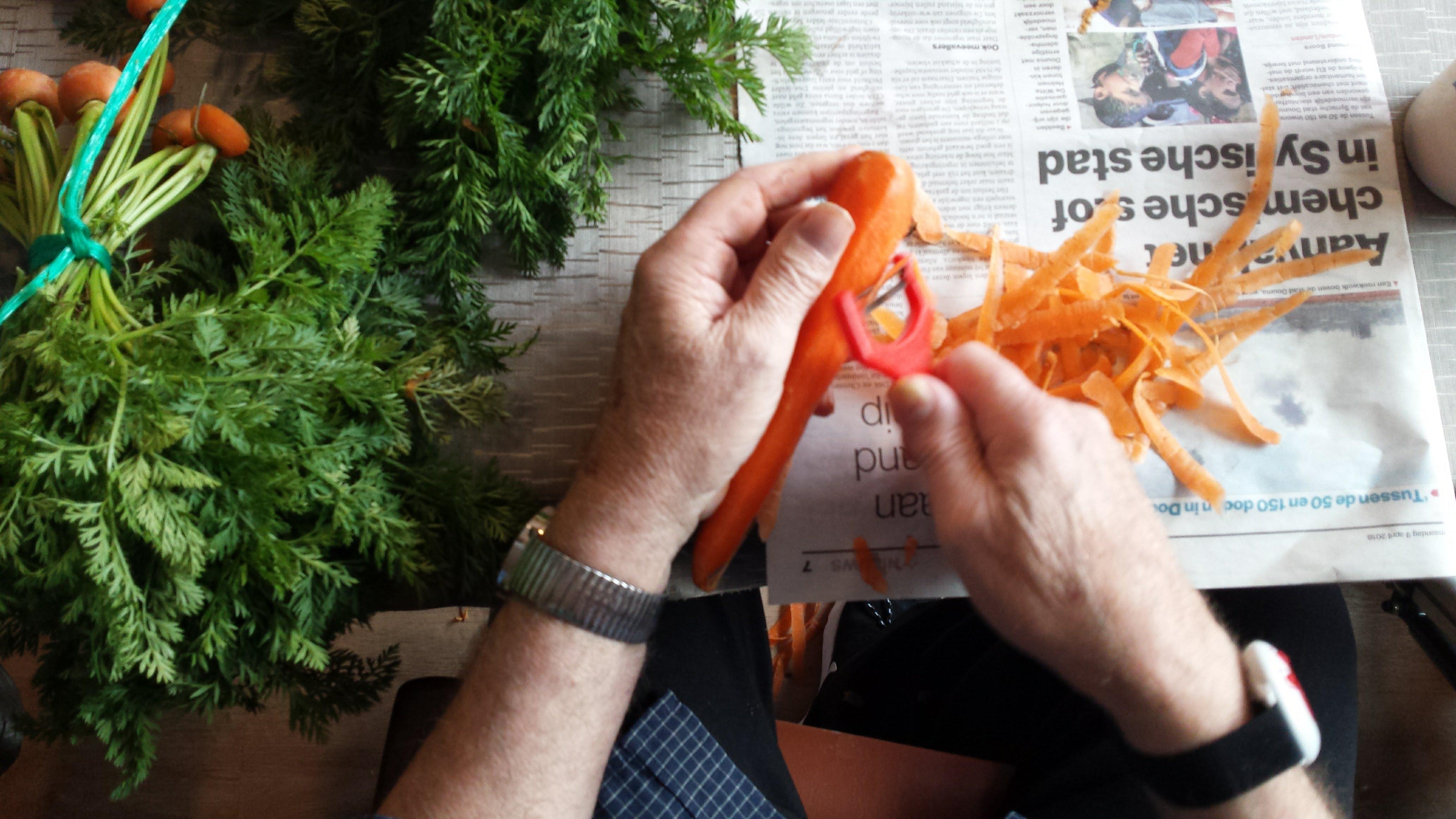 Zoet gestoofde worteltjes