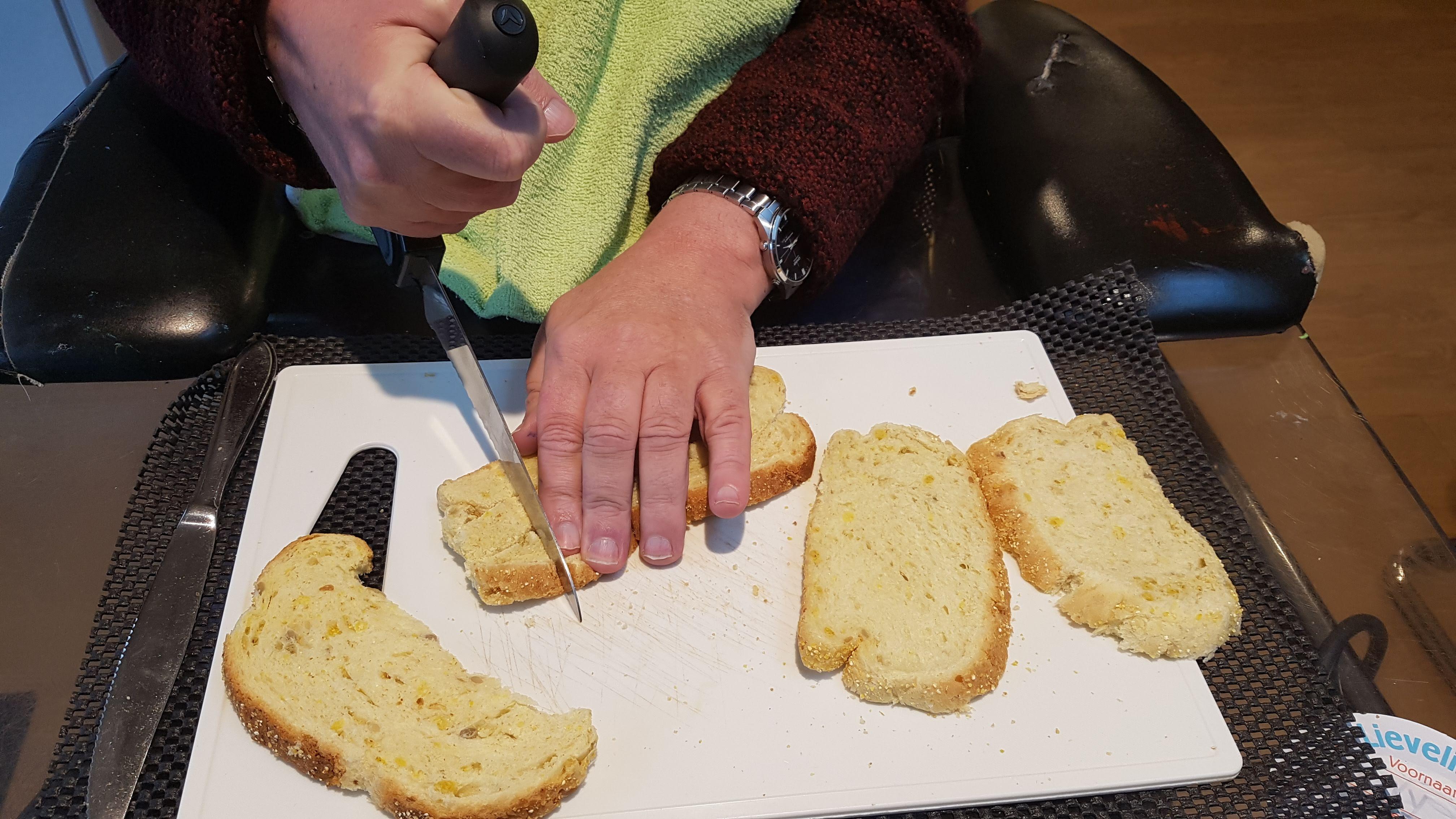 croutons van oud brood
