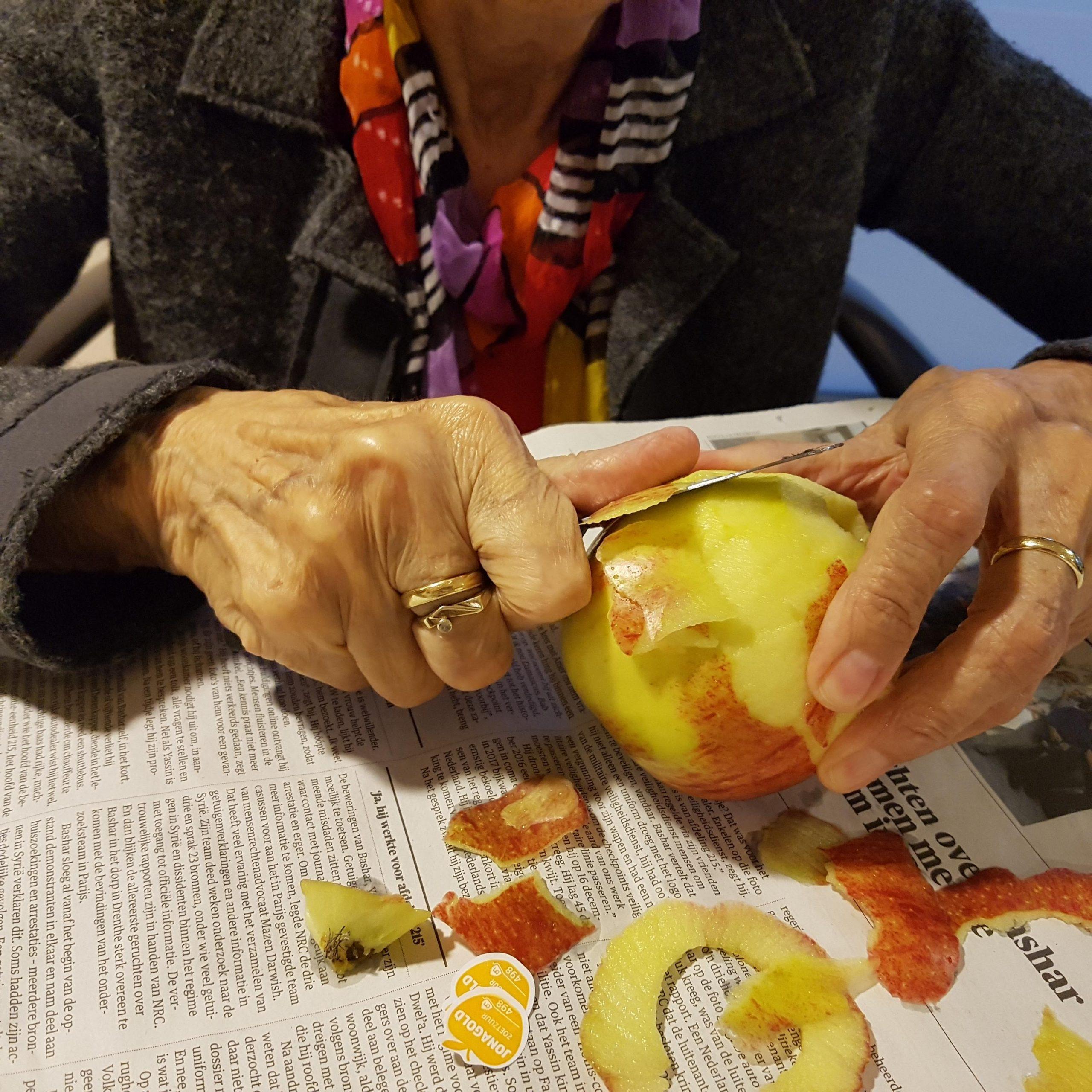 gebakken appeltjes en custard